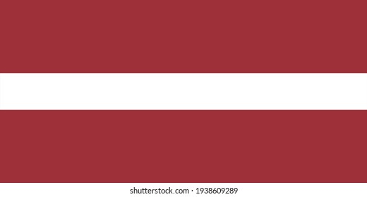 national flag of Latvia in the original size,colours and proportions(1:2)