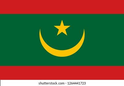 The national flag of Mauritania