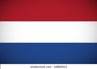 National flag of Netherlands with correct proportions and color scheme