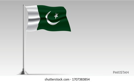 National flag of Pakistan isolated, vector.