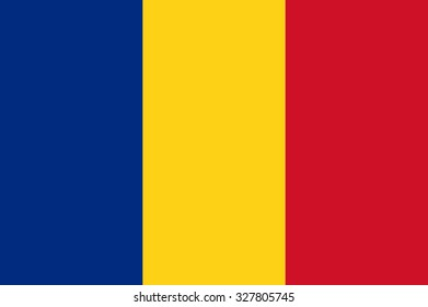 National flag of Romania - Romanian Tricolor