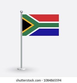 National flag of South Africa Vector Illustration
