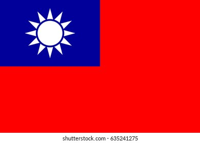 National flag of Taiwan. Vector illustration