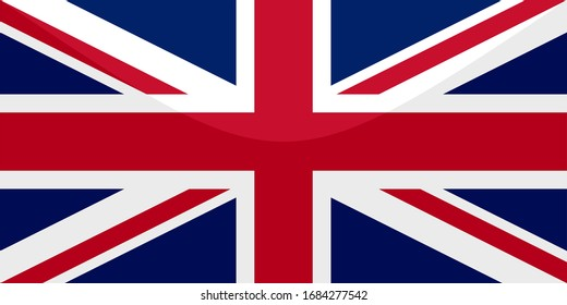 The national flag of united kingdom. proportion 1:2