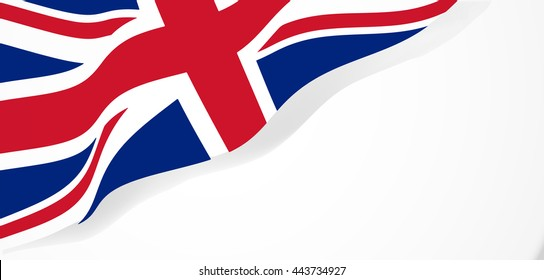 national flag of the United Kingdom waving