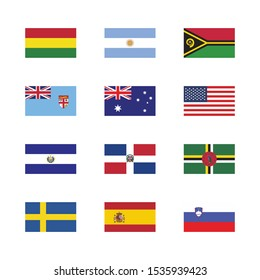 national flag vector icon flat sign