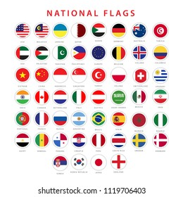 National Flag Vector Template Design Illustrator