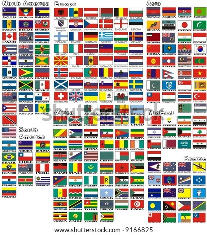 national flags all countries world separated のベクター画像素材