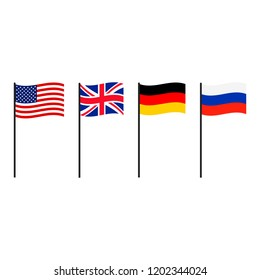 National flags set