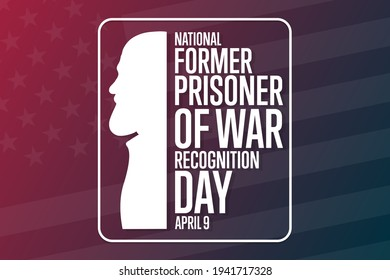 National Former Prisoner of War Recognition Day. April 9. Holiday concept. Template for background, banner, card, poster with text inscription. Vector EPS10 illustration