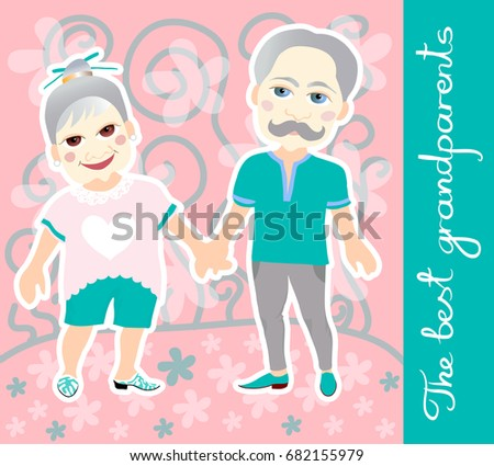 National grandparents day greeting card stock vector royalty free national grandparents day greeting card m4hsunfo