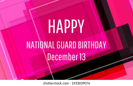 National Guard Birthday. Geometric design suitable for greeting card poster and banner