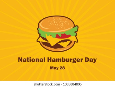 National Hamburger Day vector. Burger cartoon. Hamburger vector. Important day