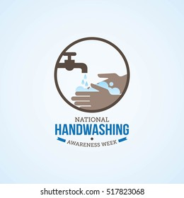 National Handwashing Awareness Week Vector Illustration. Suitable for greeting card, poster and banner.
