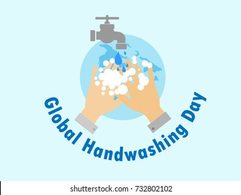 National Handwashing Day icon logo Vector Illustration. Suitable for greeting card, poster and banner.