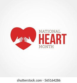 National Hearth Month Vector Illustration. Suitable for greeting card, poster and banner.