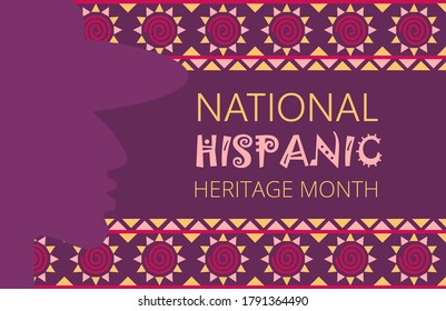 National Hispanic Heritage Month celebrated from 15 September to 15 October USA. Latino American poncho ornament vector for greeting card, banner, poster and background.