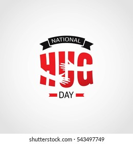 National Hug Day Vector Illustration