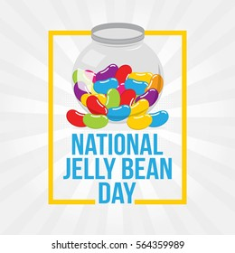 National Jelly Bean Day. Vector Illustration