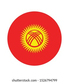 National  Kyrgyzstan flag, official colors and proportion correctly. National  Kyrgyzstan flag. Vector illustration. EPS10.  Kyrgyzstan flag vector icon, simple, flat design for web or mobile app.