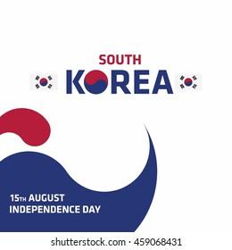 National Liberation Day of Korea. Korean Gwangbokjeol. Abstract background South Korea independence day. country flag creative shape background