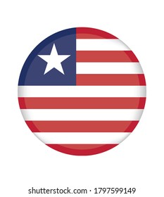 National liberia flag, official colors and proportion correctly. National liberia flag. Vector illustration. EPS10. liberia flag vector icon, simple, flat design for web or mobile app.