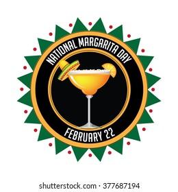 National Margarita day icon. EPS 10 vector.