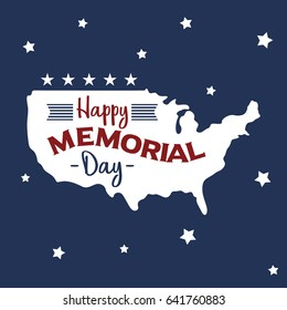 National Memorial Day. Suitable for banner, poster, greeting card, mug, shirt, template and print advertising. Vector Illustration