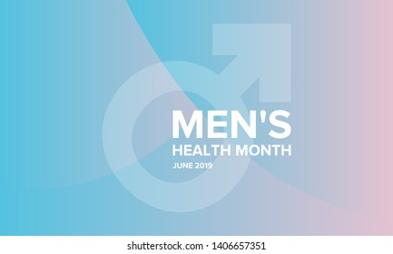 National Men's Health Month in June. Health education program. Celebrated annual in United States. Medical concept. Care and health. Poster, card, banner and background. Vector illustration