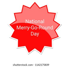 National Merry-Go-Round Day Label, July 25