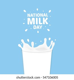 National Milk Day Vector Illustration. Fresh Milk Illustration