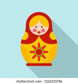 National nesting doll icon. Flat illustration of national nesting doll vector icon for web design