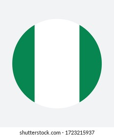 National Nigeria flag, official colors and proportion correctly. National Nigeria flag. Vector illustration. Nigeria flag vector icon, simple, flat design for web or mobile app.