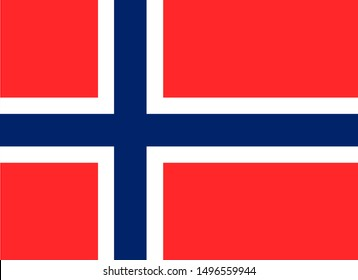 National Norway flag. Simple flat vector illustration eps10