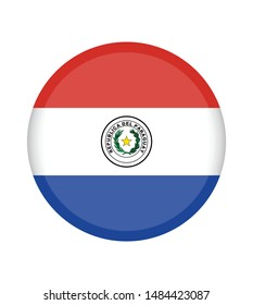 National Paraguay flag, official colors and proportion correctly. National Paraguay  flag. Vector illustration. EPS10. Paraguay  flag vector icon, simple, flat design for web or mobile app.