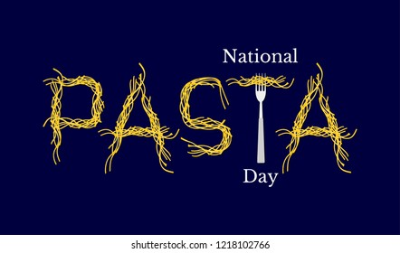 National Pasta Day. Event name. Pasta Word - Pasta and Fork