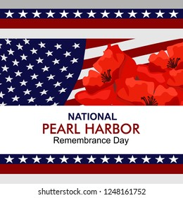 National Pearl Harbor Remembrance Day vector illustration. Suitable for greeting card, poster and banner.