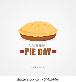 National Pie Day Vector Illustration. Flat style design