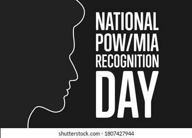National POW/MIA Recognition Day. Holiday concept. Template for background, banner, card, poster with text inscription. Vector EPS10 illustration