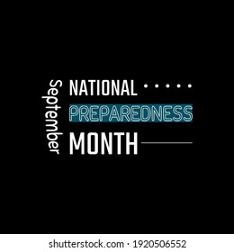 National Preparedness Month. Suitable for greeting card poster and banner