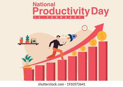 National Productivity Day design.National Productivity Day creative vector design.business growth creative design.