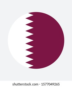 National Qatar flag, official colors and proportion correctly. National  Qatar flag. Vector illustration. EPS10. Qatar flag vector icon, simple, flat design for web or mobile app.
