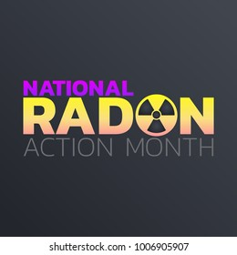 National Radon Action Month icon design. logo vector illustration
