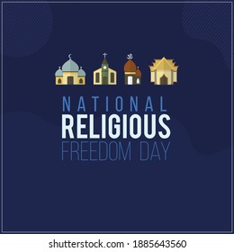 National Religious day with religious icon abstract design
