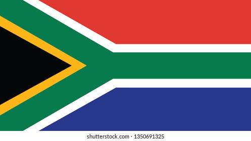 National South Africa flag, official colors and proportion correctly. National South Africa flag. Vector illustration. EPS10. South Africa flag vector icon, simple, flat design for web or mobile app.