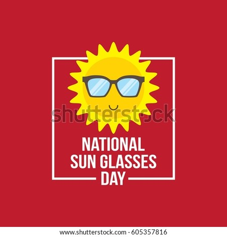 14f66e3bdfc Royalty-free stock vector images ID  605357816. National Sun Glasses Day  Vector Illustration. Suitable for Greeting Card