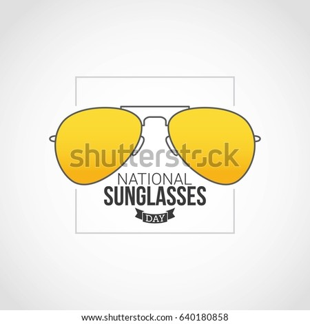43f0f684b15 Royalty-free stock vector images ID  640180858. National Sunglasses Day  Vector Design - Vector