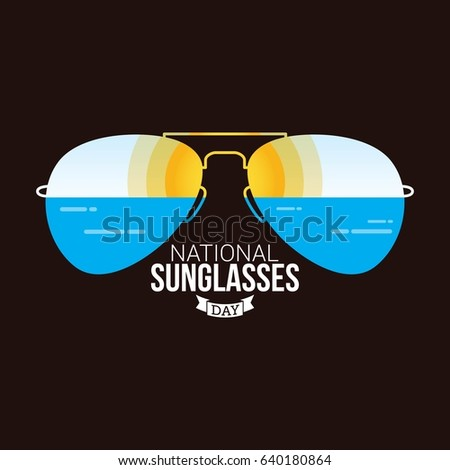 e7b2ffbcbbc Royalty-free stock vector images ID  640180864. National Sunglasses Day  Vector Design - Vector