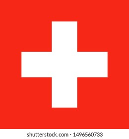 National Switherland flag. Simple flat vector illustration eps10