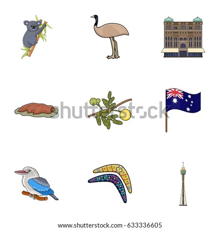 National Symbols Australia Web Icon On Stock Vector Royalty Free